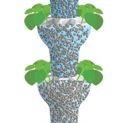 גידול הידרופוני ביתי במערכת גידול איכותית בשיטת הטיפטוף